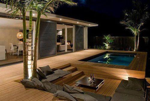 Outdoor spa design