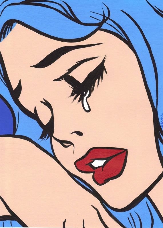 Crying cartoon girl tumblr