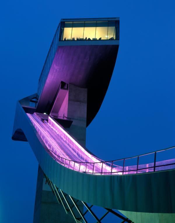 Architecture modern design project bergisel ski jump for Modern office design and architecture inc
