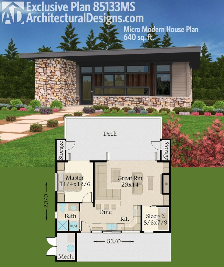 Modern house plans architectural designs micro modern Architectural house plan styles