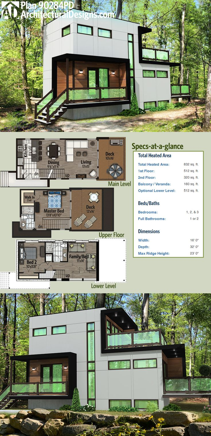 Modern House Plans Architectural Designs Modern House Plan 90284pd Has A Master Bedroom On The Top Dear Art Leading Art Culture Magazine Database