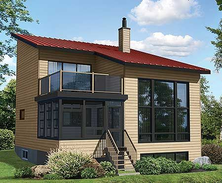 Modern House Plans : Contemporary Plan with Second Floor ...