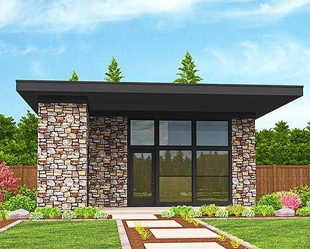 Modern house plans flexible tiny modern house plan for Flexible house plans