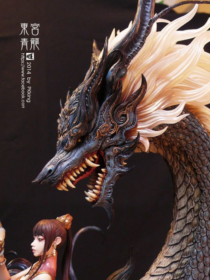 Easy Clay Sculptures Azure Dragon By Pkking1288 On