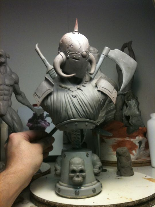 easy clay sculptures death dealer 1 3 scale bust 2 by chrisgabrish