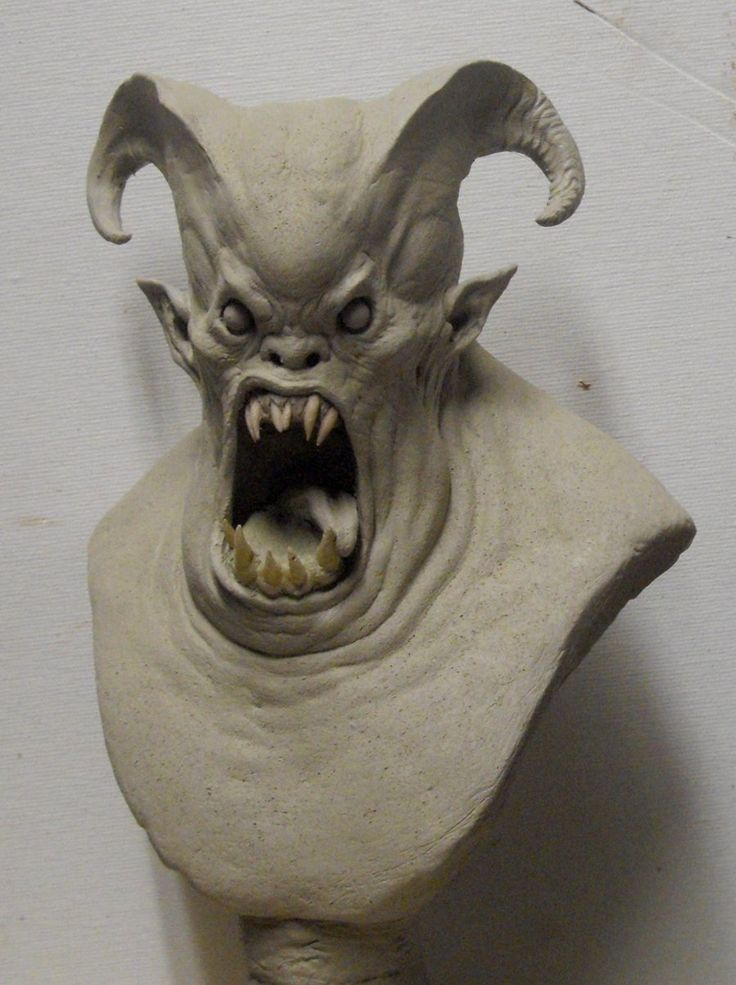 Easy Clay Sculptures Demon Bust By Boularis On
