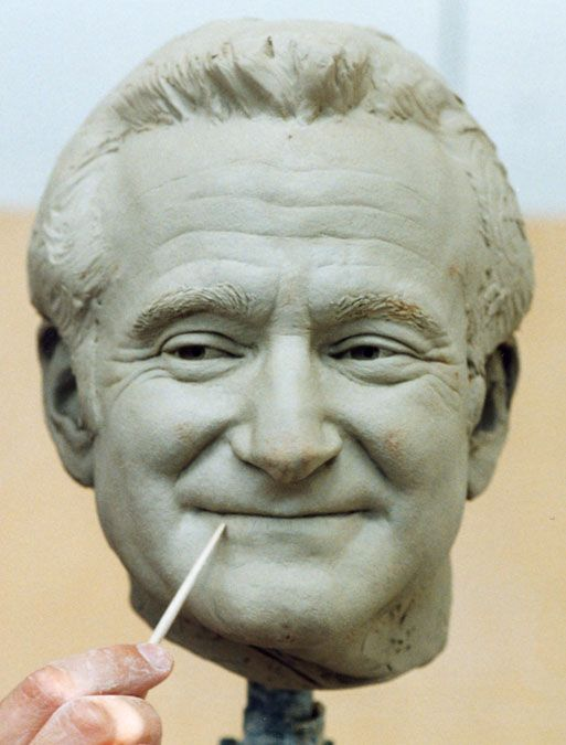 Easy clay sculptures robin williams sculpture dear