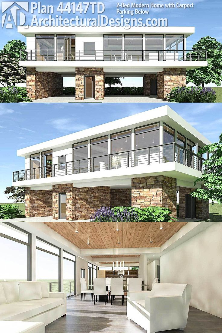 modern house plans architectural designs modern house plan 44147td gives you an open floor plan 2 - 44+ Front Design Of Small House Ground Floor  Gif