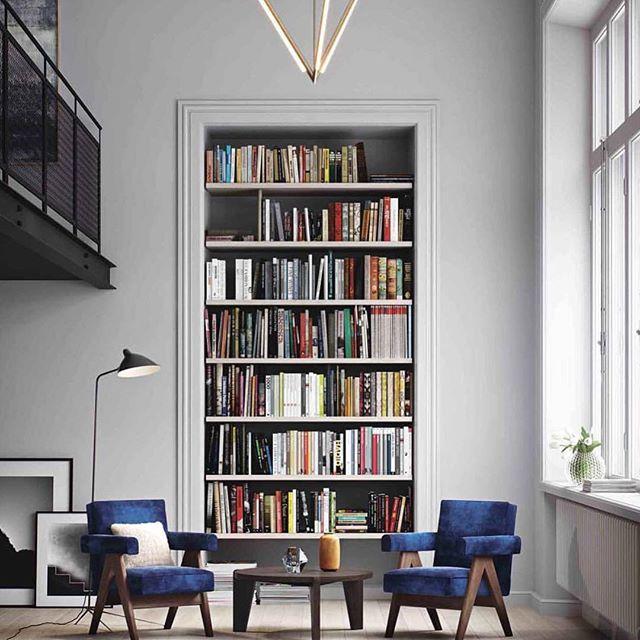 Modern Interiors Design Books On Books With Blue Chairs Via Flackstudio Jpg Dear Art Leading Art Culture Magazine Database
