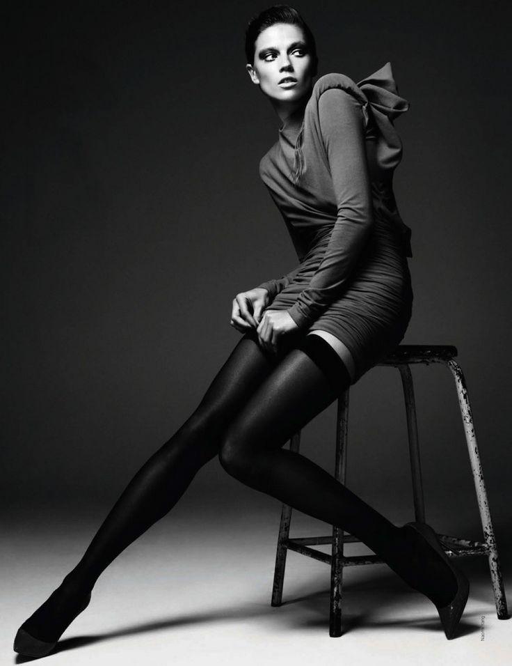 Photography Poses Studio Shoot Stool Leg Extension Fashion
