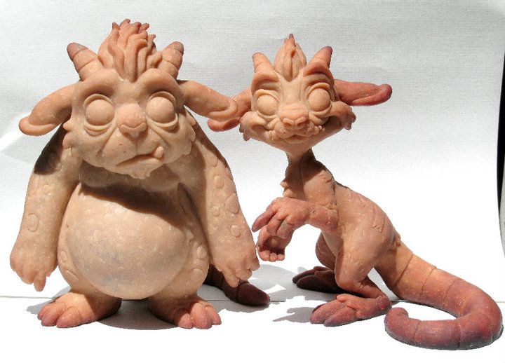 Easy clay sculptures monster mind sculpts token nubs