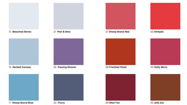 Graphic Design Inspiration Colour Chart Reflects The