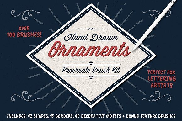 Graphic Design Ideas Ornament Brushes For Procreate By