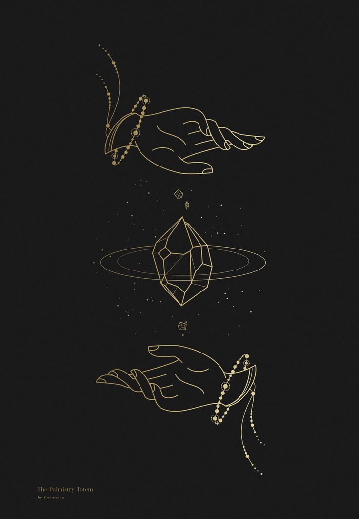 Line Design Ideas : Graphic design ideas palmistry totem line art by