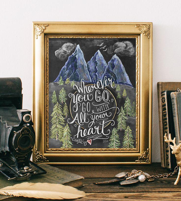 Graphic Design Ideas Wanderlust Chalkboard Art Print By Lily Amp Val On Scoutmob Dear Art