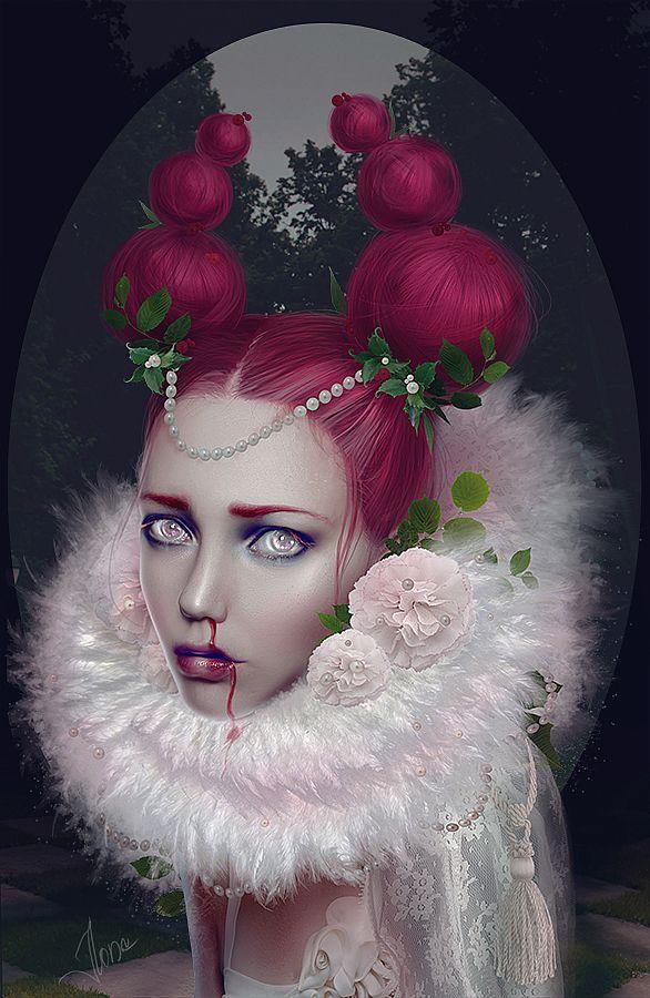 Illustration Ideas Hot Mixed Media Portraits By Ilona D