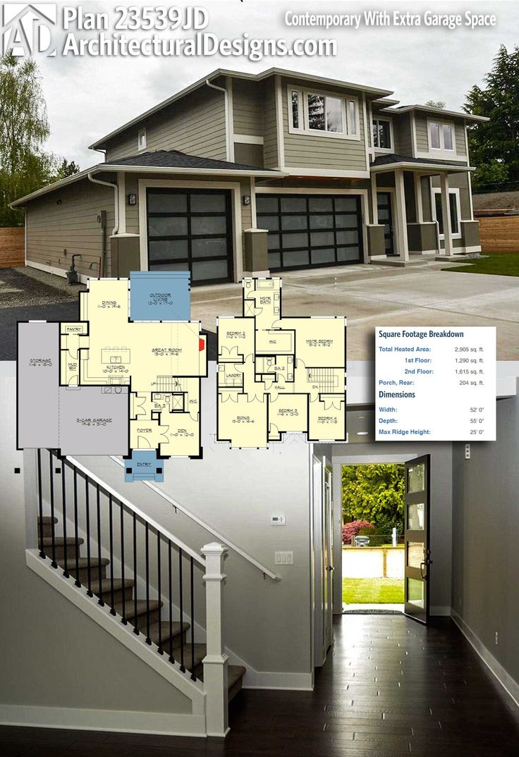 Modern house plans architectural designs modern house plan 23539jd gives you 4 beds and over for Modern home architecture magazine