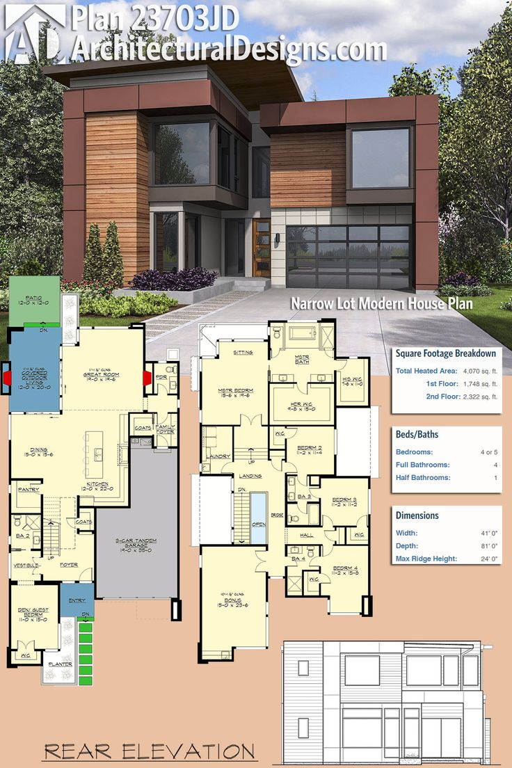 Modern house plans architectural designs modern house for Www houseplans net floorplans