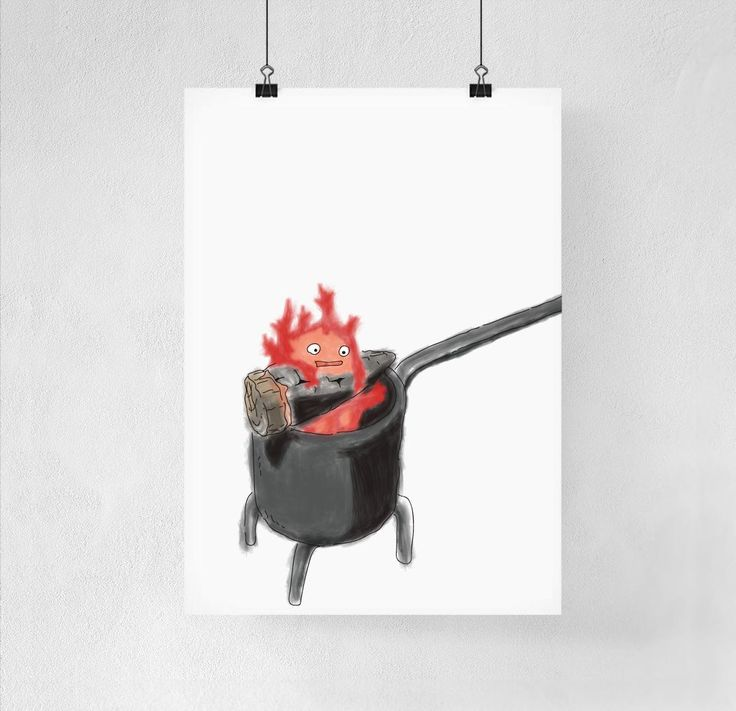Best Film Posters : 8 X 10 Calcifer From Howl's Moving