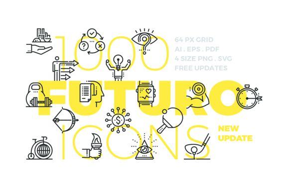 Graphic Design Ideas Futuro Line Icons By Bloomicon On