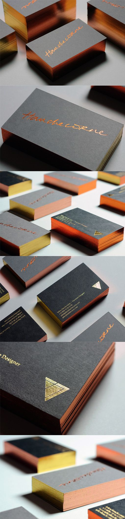 Graphic Design Inspiration Copper And Gold Foil Business