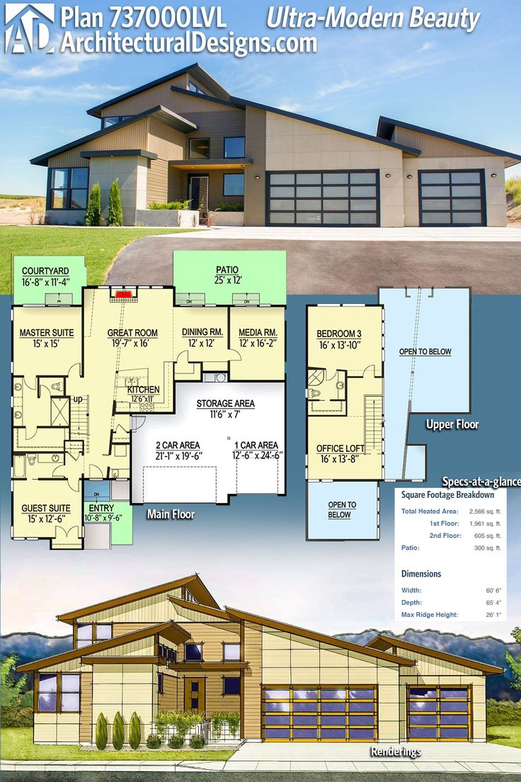 Modern House Plans : Architectural Designs House Plan ...