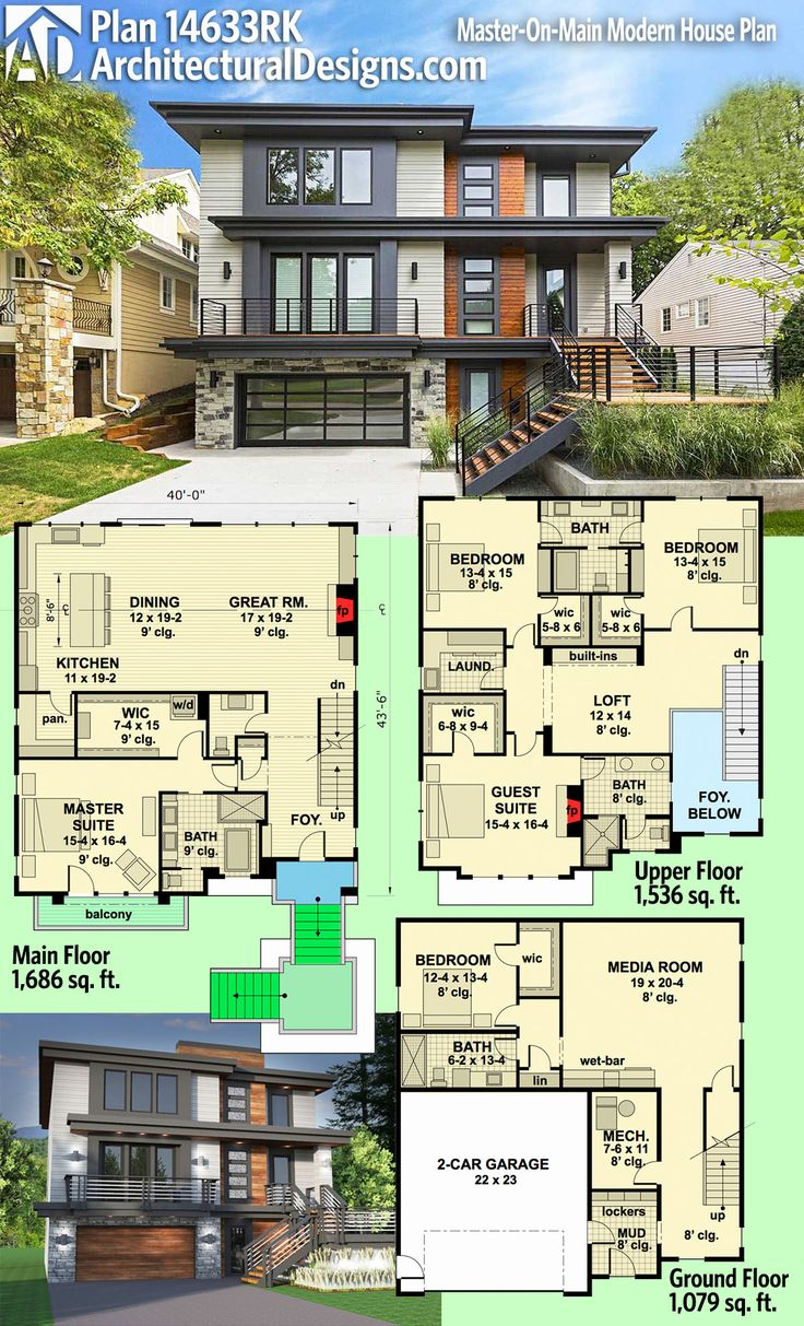 Modern house plans architectural designs modern house for Best architect house designs