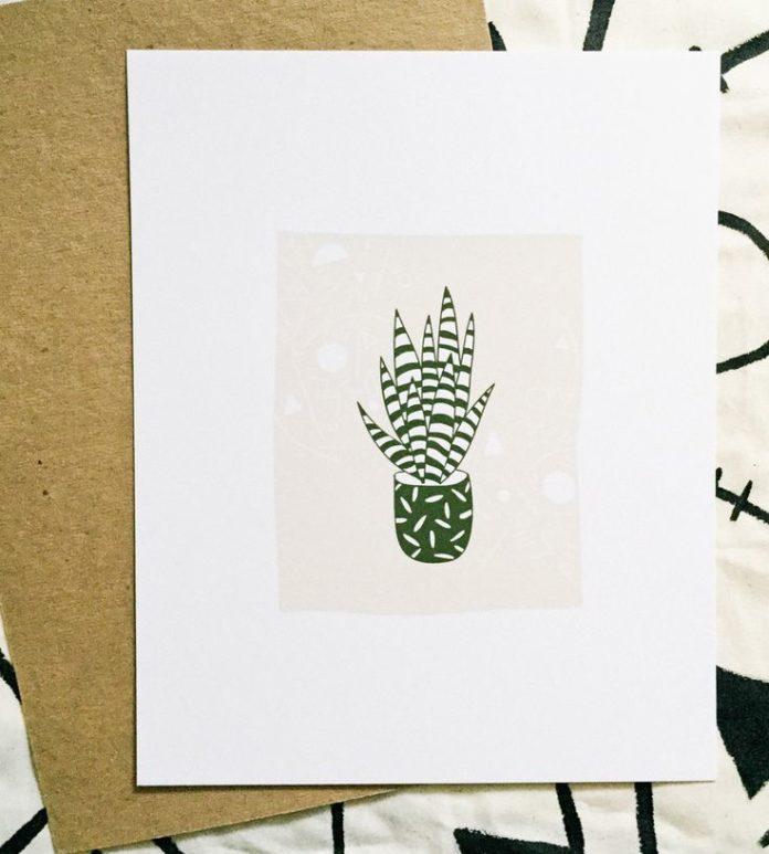 Graphic Design Ideas Zebra Succulent Art Print By Beetle