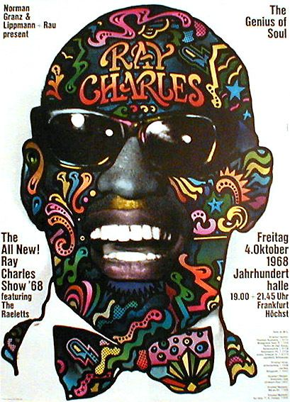 Graphic design inspiration ray charles double concert for Graphic design frankfurt