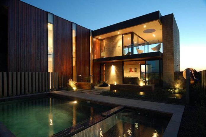 Modern house design phillip island residence by pleysier for Beach house designs phillip island