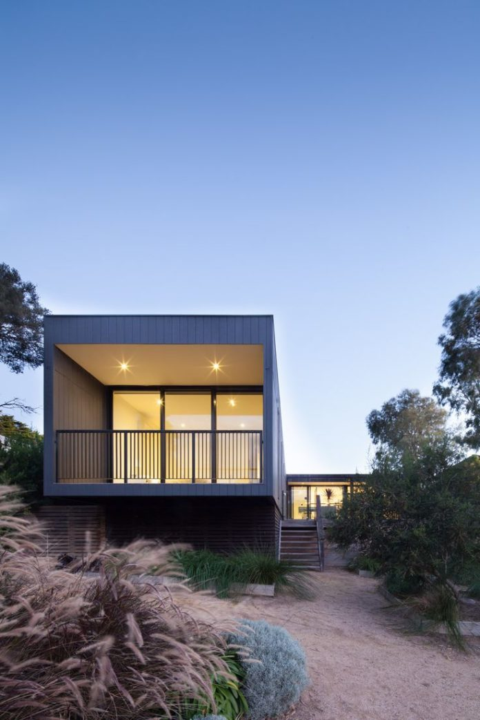 Modern house design portsea victoria prefab home by for Modern house designs victoria
