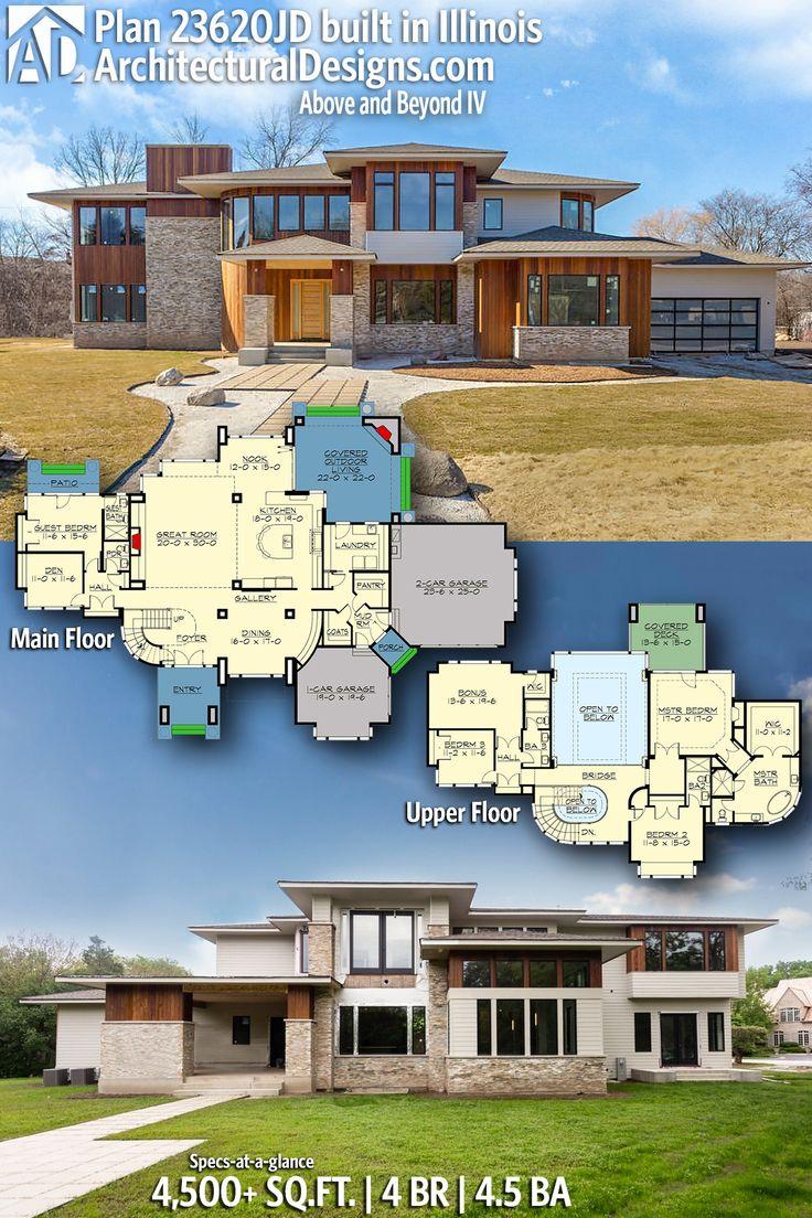 Description architectural designs modern prairie house