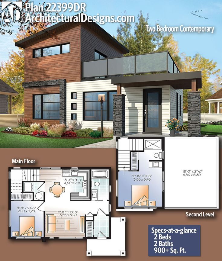 Modern House Plans Architectural Designs Modern Home Plan 22399dr