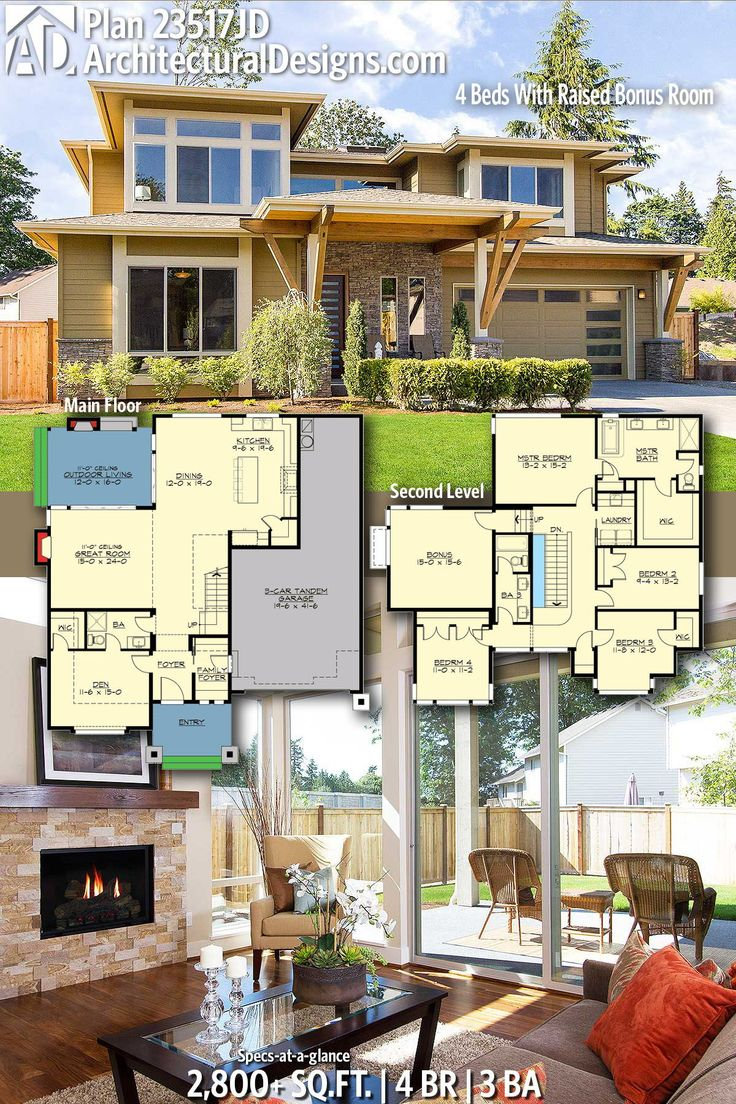 Modern House Plans : Architectural Designs Modern Home Plan 23517JD ...