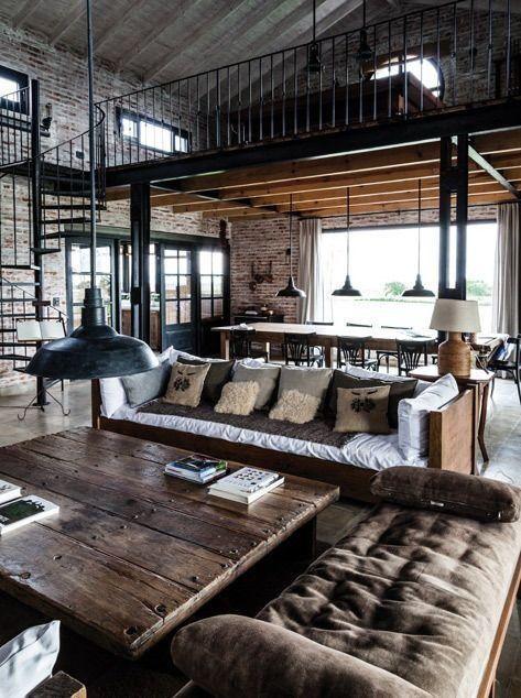 Modern House Design Architecture Wohnung Loft Im Industrielook