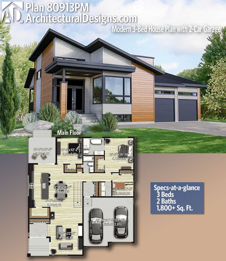 Modern House Plans : Architectural Designs Home Plan 80913PM ...