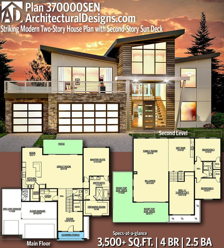 Description Architectural Designs Modern House Plan