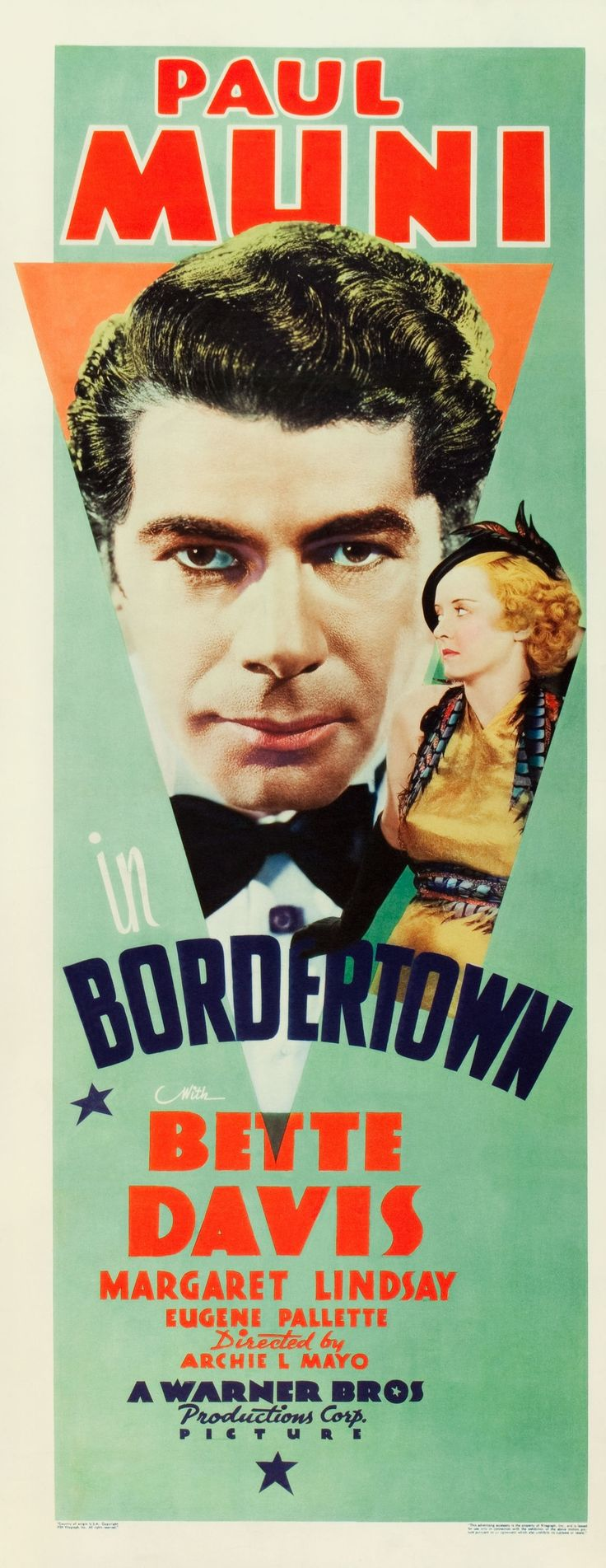 Best Film Posters Bordertown 1935 Paul Muni Bette Davis